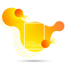 abstract liquid shape gradient vector image