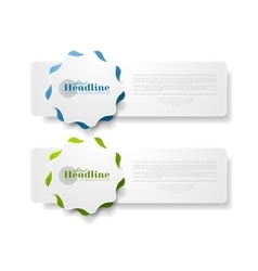 Abstract tech web sticker label design vector