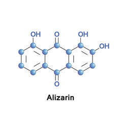 alizarin or dihydroxyanthraquinon vector image