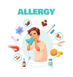 Allergy concept vector