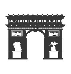 arch of triumph paris vector image