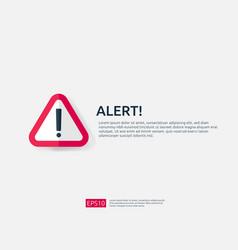 Attention warning alert sign banner vector