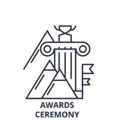 awards ceremony line icon concept awards ceremony vector image