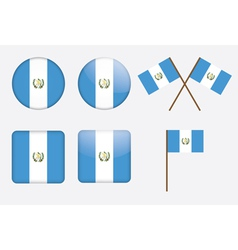 Badges with flag of Guatemala vector