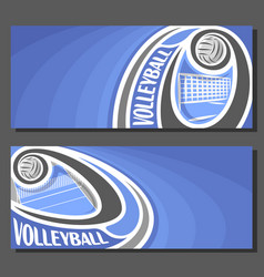 banners for volleyball vector image