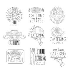 Best catering service set of hand drawn black and vector