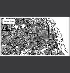 Buenos aires argentina city map in black and vector