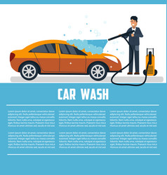 car wash template vector image