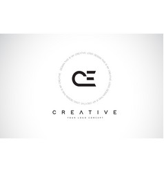 Ce c e logo design with black and white creative vector