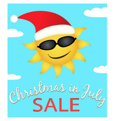 Christmas in july sale vector