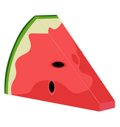 Clipart watermelon wedge and seeds exposed or vector