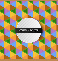 Colorful seamless geometric pattern background vector