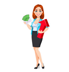 Concept of modern business woman vector