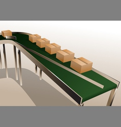 conveyor belt vector image