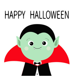 Count dracula headwearing black and red cape cute vector