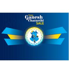 Creative ganesh chaturthi festival poster design vector