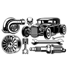 Design elements of car repair vector