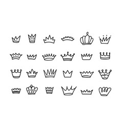 doodle crown isolated on white vector image