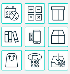 E-commerce icons set includes icons such as vector