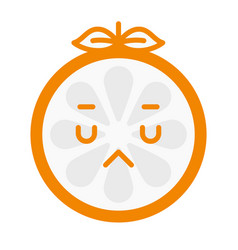 emoji - sad orange feeling like crying isolated vector image
