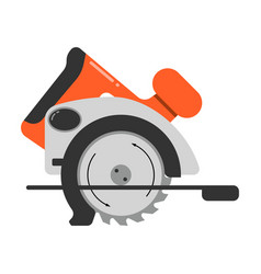 flat icon circular saw steel vector image