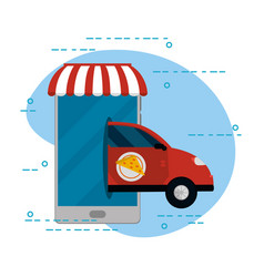 Food order delivery vector