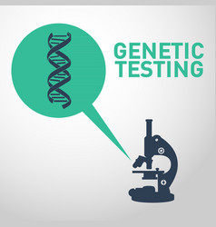Genetic testing logo icon design vector