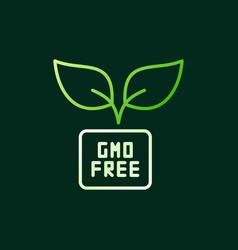 gmo free colored outline icon on dark vector image