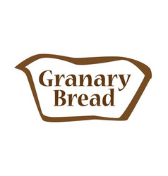 Granary bread outline shape vector