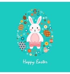 Happy easter 6 vector image