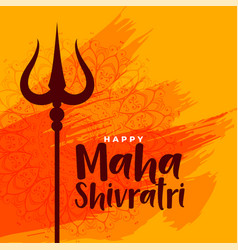 happy maha shivratri indian festival greeting vector image