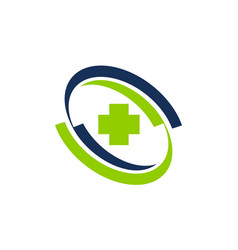 healthy care center vector image