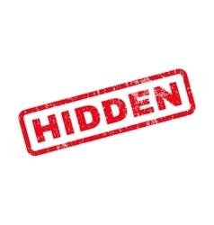 Hidden Text Rubber Stamp vector
