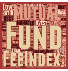 How to look for the Best No Load Mutual Funds text vector image