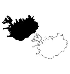 iceland map vector image