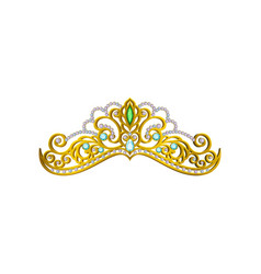 Icon of beautiful princess tiara decorated vector