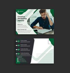 Invitation postcard simple design templates vector