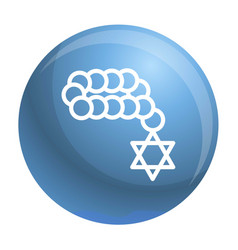 jewish beads icon outline style vector image