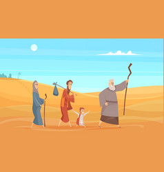 journey bible characters narrative historical vector image