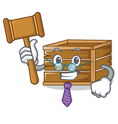 Judge crate mascot cartoon style vector