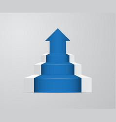 Ladder with growth up arrow vector