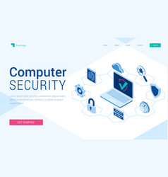 landing page computer security vector image