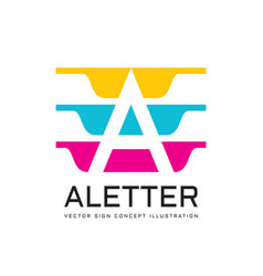 letter a - logo template concept vector image