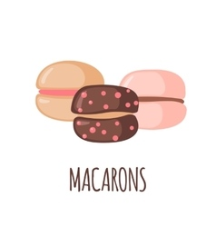 Macaroons icon on white background vector image