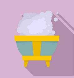magic smoke bowl icon flat style vector image
