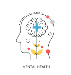 Mental health concept vector