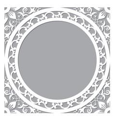 Morocan carved frame or border design vector