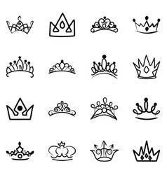 Nobility crowns hand drawn vector