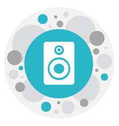 of song symbol on sound vector image