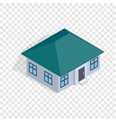 one storey house isometric icon vector image